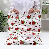 Вакуумный пакет для хранения вещей «Розы», 50×60 см, фото 3