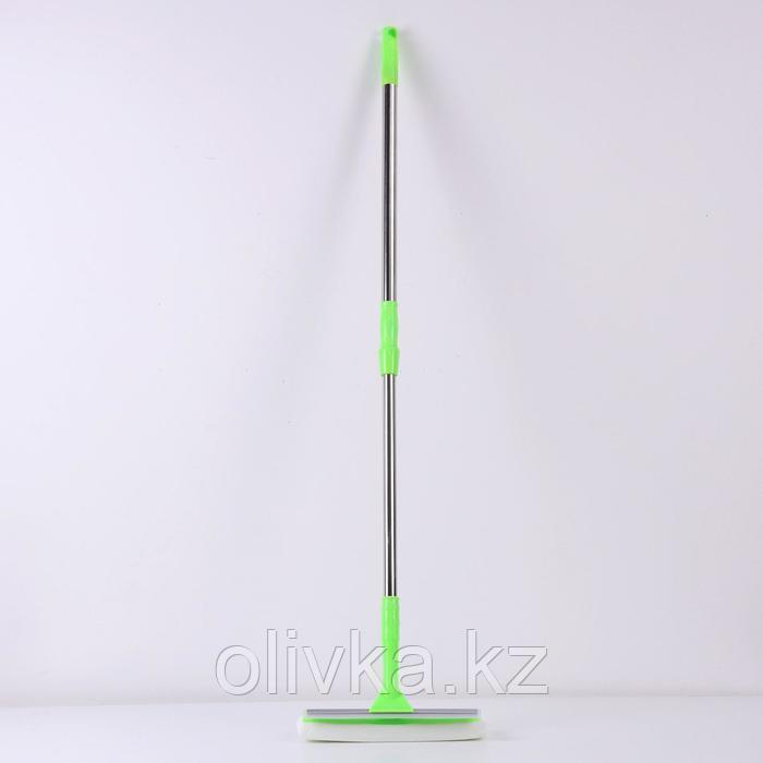 Окномойка с телескопической стальной ручкой и сгоном, 24×71(102), микрофибра