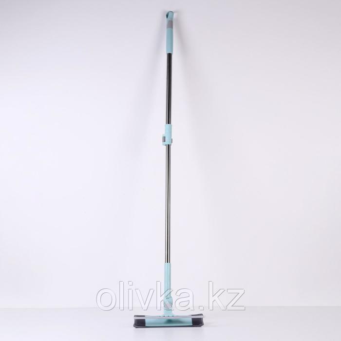 Окномойка с телескопической стальной ручкой и сгоном Доляна, 25×6×88(130) см, поворот насадки в двух