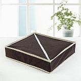 Органайзер для белья «Ваниль», 7 ячеек, 33×30×8 см, цвет коричнево-бежевый, фото 4