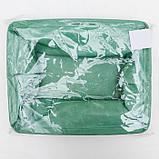 Корзинка для хранения «Тая», 3 кармана, 30×24×18 см, цвет бирюзовый, фото 6
