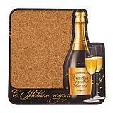 """Органайзер настенный пробковый """"С Новым Годом!"""" шампанское, 30х30 см, фото 2"""