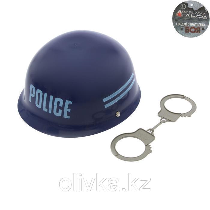 Набор полицейского «Каска и наручники», 2 предмета
