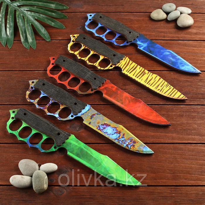 Сувенир деревянный нож 4 модификация, 5 расцветов в фасовке, МИКС