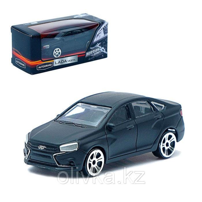 Машина металлическая Lada Vesta, цвет матовый чёрный, масштаб 1:60