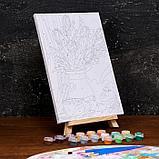 Картина по номерам на холсте с подрамником «Тюльпаны» 20×30 см, фото 3