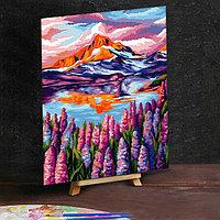 Картина по номерам на холсте 30×40 см «Горное озеро»