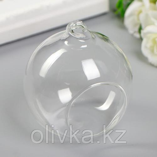"Декор для творчества стекло ""Шар с отверстием"" 9х8х8 см"