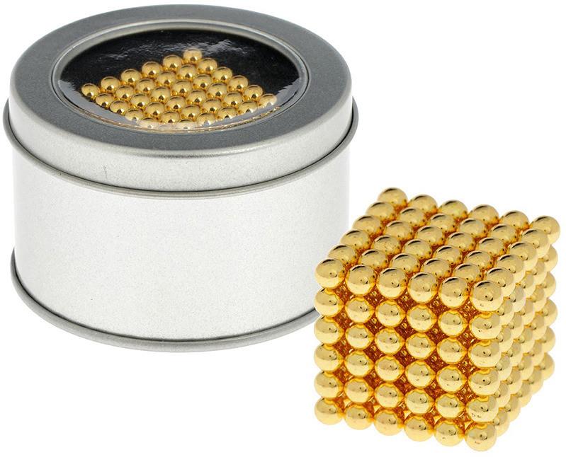 Антистресс магнитный Неокуб, 216 шариков d=0.5 см. (золото)