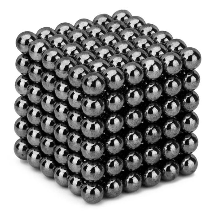 Антистресс магнитный Неокуб, 216 шариков d=0.5 см. (чёрное серебро)