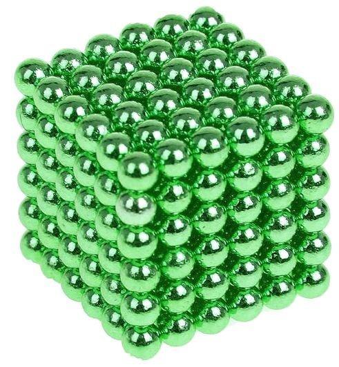 Антистресс магнитный Мини-Неокуб, 216 шариков d=0.3 см. (зеленый)
