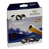 Уплотнитель для окон, профиль P, на клейкой основе, коричневый, в упаковке 6 м