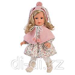 LLORENS Лючия 40 см, блондинка в розовой пелерине