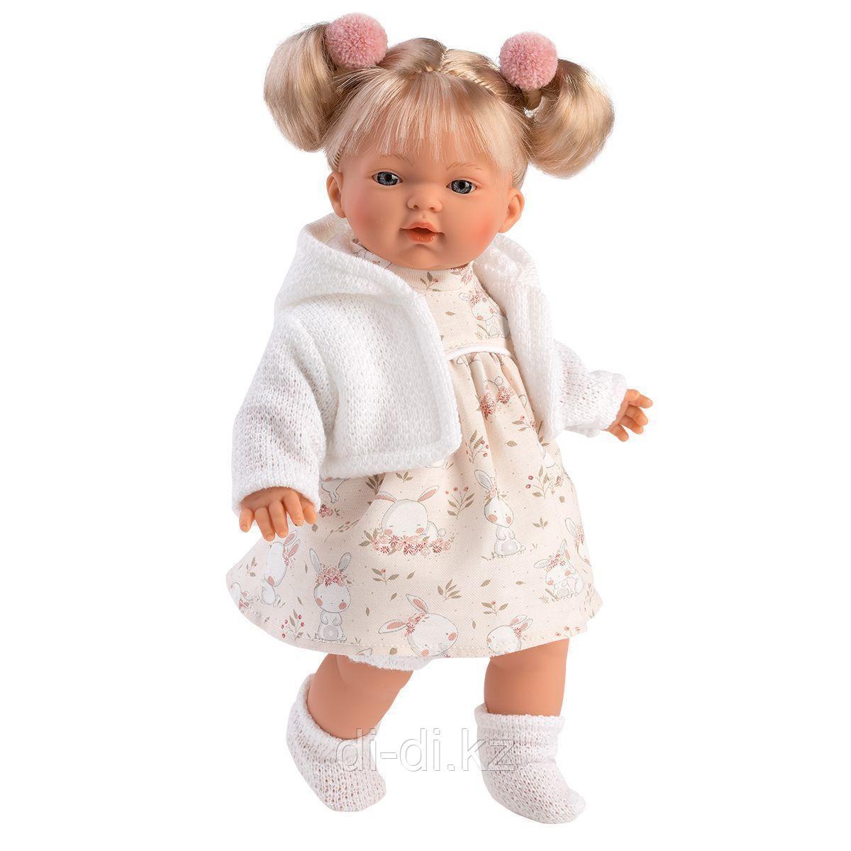 LLORENS Кукла Роберта 33 см, блондинка в белом жакете
