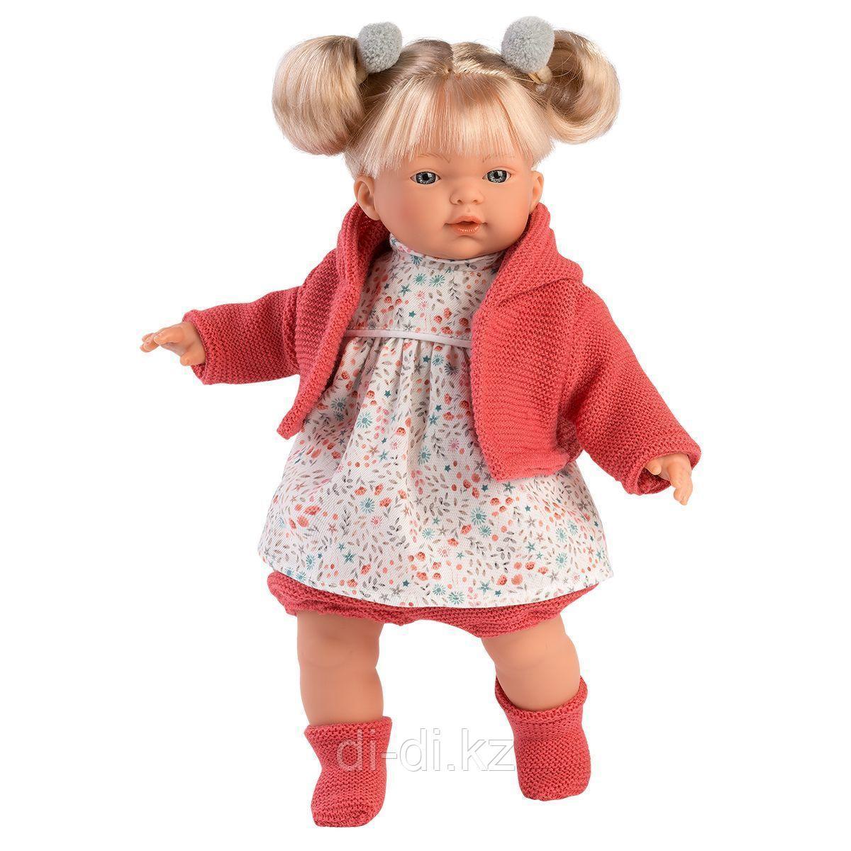 LLORENS Кукла Аитана 33 см, блондинка в красном жакете