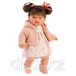 LLORENS Кукла Рита 33 см, брюнетка в розовом жакете