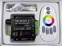 Музыкальный контроллер 2 канала для RGB ленты с RF сенсорным пультом с подсветкой, фото 1