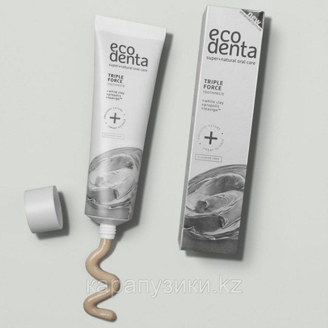 Зубная паста тройной эффект с прополисом и глиной