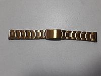 Металлический браслет на наручные часы. Золотистый