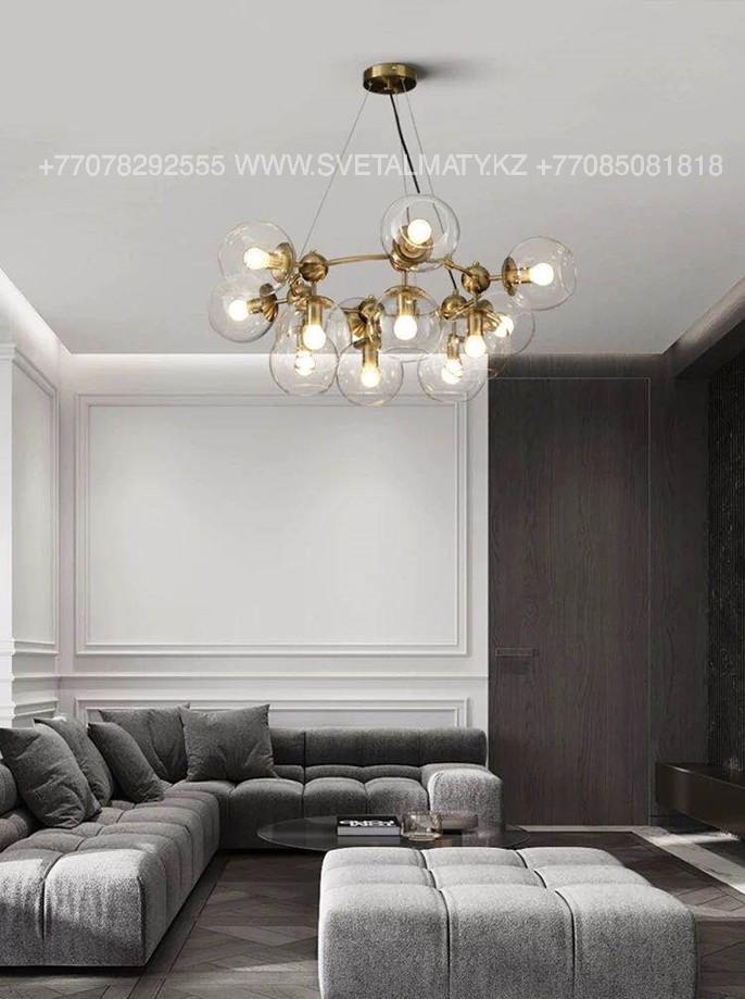 Люстра в стиле Лофт на 12 ламп Бронза