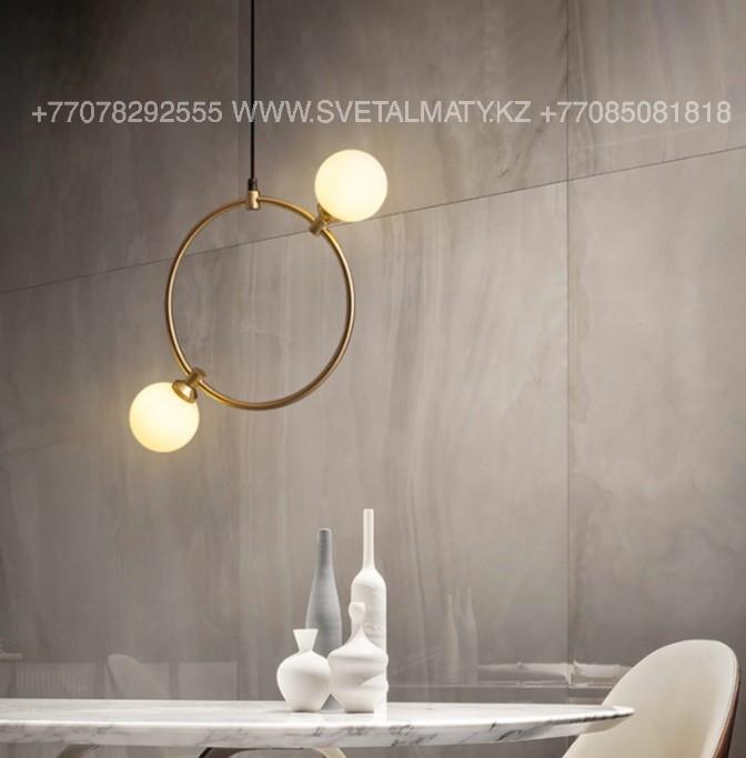 Люстра в стиле Лофт на 2 лампы Золото