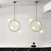 Люстра в стиле Лофт на 4 лампы Золото