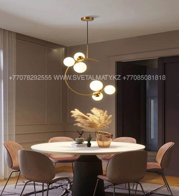 Современная люстра на 6 ламп