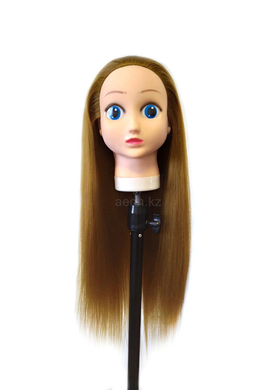 Голова-манекен (аниме) темно-русый волос искусственный - 60 см