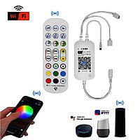 Музыкальный RGB контроллер c WiFi и пультом для ленты 5050 2835 3528
