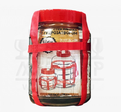 Банка стеклянная Easy Brew с гидрозатвором, 6 л