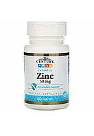 Цинк , 21 centry 50 mg, 60 капсул