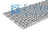 Решетка Gidrolica Step Pro 490х990мм - стальная ячеистая оцинкованная преснастил настил Гидролика