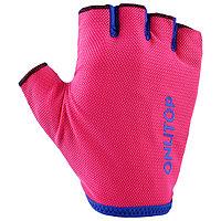 Перчатки спортивные, размер М, цвет розовый