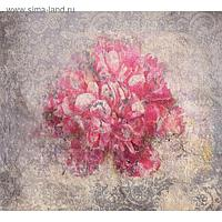 """Фотообои """"Красные цветы на бетонной стене"""" 6-А-630 (2 полотна), 300x270 см"""