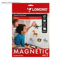 Бумага с магнитным слоем для струйной печати А4 LOMOND, 2020345, 2 листа, 660 г/м², глянцевая