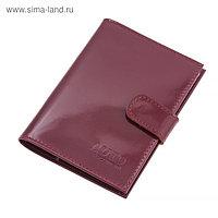 Бумажник водителя, натуральная кожа, цвет красный