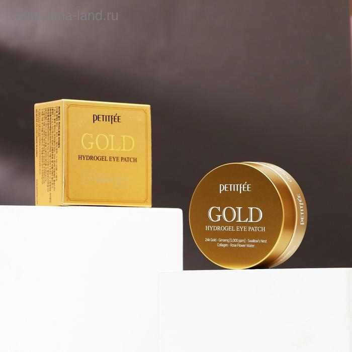Гидрогелевые патчи Petitfee, с 24-каратным коллоидным золотом, 60 шт. - фото 1