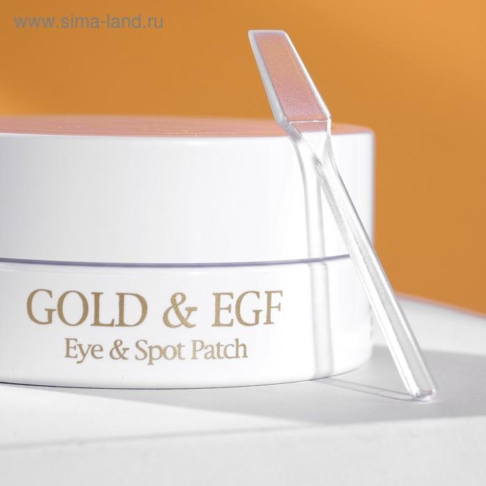 Патчи для глаз Gold & EGF Eye & Spot Petitfee, с золотыми частицами и фактором роста EGF, 60 шт. - фото 4