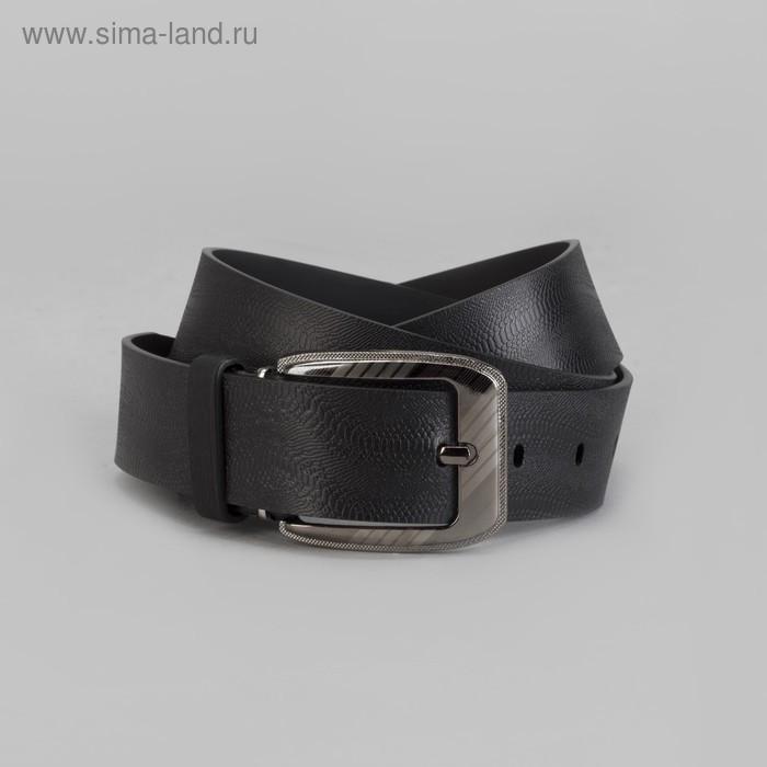 Ремень мужской, винт, пряжка под тёмный металл, ширина - 3,5 см, цвет чёрный - фото 1