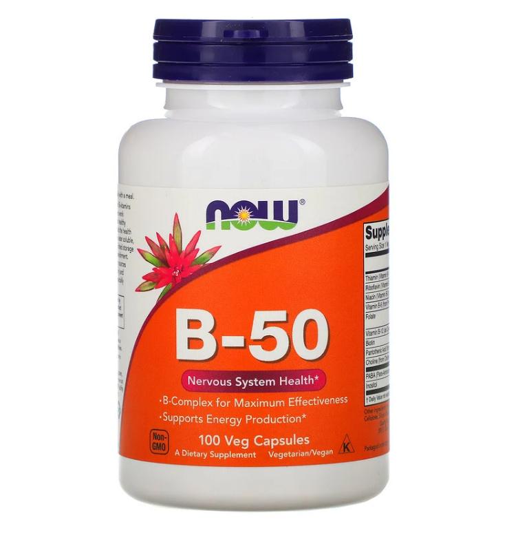 Now Foods, B-50, 100 растительных капсул