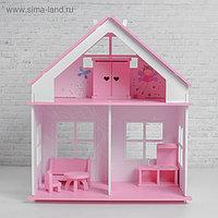 Кукольный дом «Суфле» с обоями и набором мебели