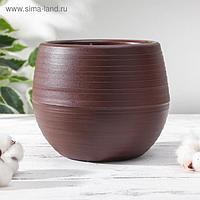 Горшок для цветов «Япония» 1,2 л, цвет темно-коричневый