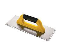 Гладилка с пластиковая ручка 40 cm, 4x4 cm квадратный зуб Dekor