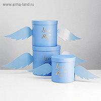 """Набор коробок 3 в 1 """"Крылья"""", синий, 21,5 х 21,5 - 16,5 х 16,5 см"""