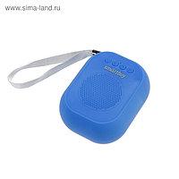 Портативная колонка SmartBuy BLOOM, 3 Вт, Bluetooth, MP3, FM-радио, синяя