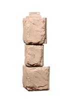Угол наружный Бежевый 459х140х140 мм Камень крупный Дачные FINEBER