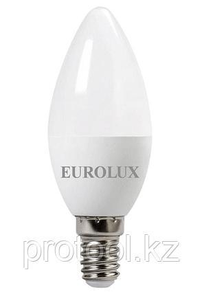 Лампа светодиодная LL-E-C37-5W-230-2,7K-E14 (свеча, 5Вт, тепл., Е14) Eurolux, фото 2