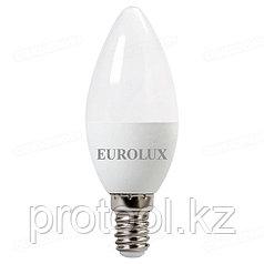 Лампа светодиодная LL-E-C37-6W-230-2,7K-E14 (свеча, 6Вт, тепл., Е14) Eurolux