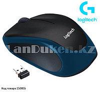 Компьютерная мышь беспроводная оптическая 1000 dpi USB Logitech M186 Wireless Mouse синий