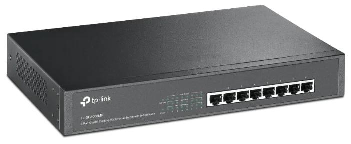 Коммутатор PoE GbE  8-портовый Tp-Link TL-SG1008MP